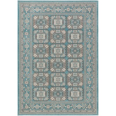 Keeton Turquoise/Gray Area Rug Rug Size: Rectangle 22 x 3
