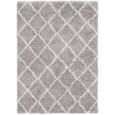 Gloversville Gray / Ivory Area Rug Rug Size: Rectangle 53 x 73