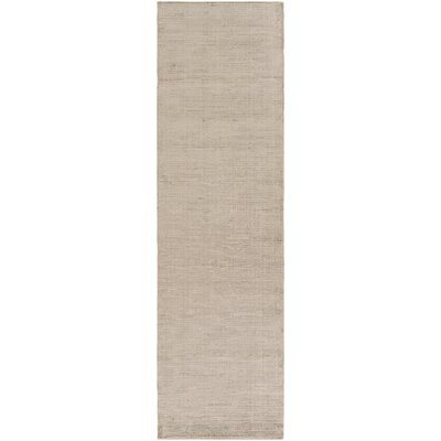 Blosser Hand-Loomed Taupe Area Rug Rug Size: Runner 23 x 8