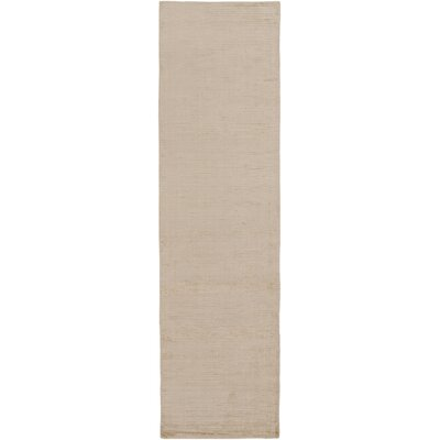 Charlotte Beverly Hand-Loomed Beige Area Rug Rug Size: Runner 23 x 8