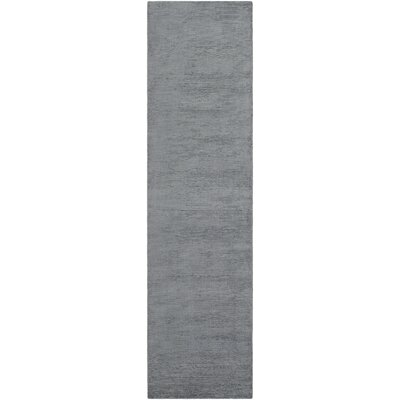 Blosser Hand-Loomed Denim Blue Area Rug Rug Size: Runner 23 x 8