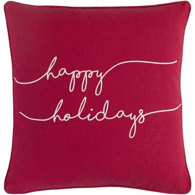 Holiday Joy Cotton Throw Pillow