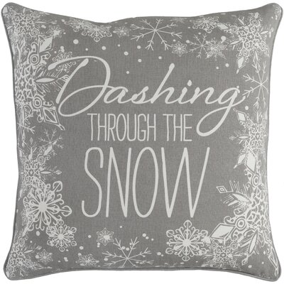 Holiday Snow Cotton Throw Pillow Cover