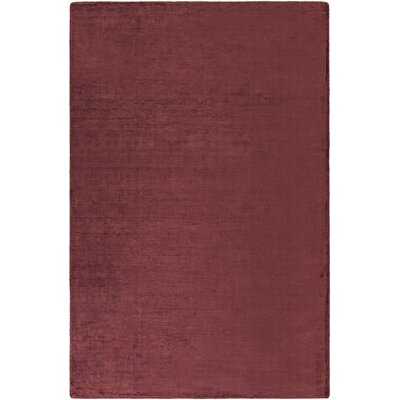 Blosser Hand-Loomed Burgundy Area Rug Rug Size: Rectangle 76 x 96