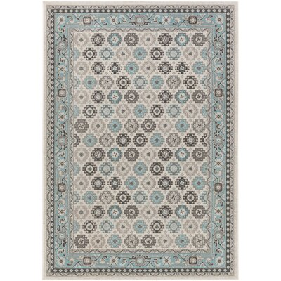 Bernhard Light Blue / Light Gray Area Rug Rug Size: Rectangle 22 x 3