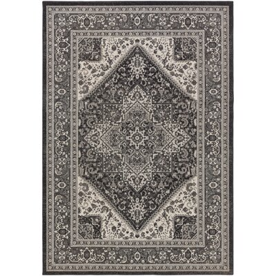 Pickerel Charcoal/Gray Area Rug Rug Size: Rectangle 311 x 6