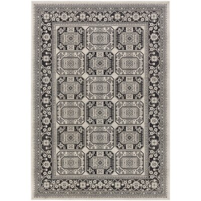 Keeton Onyx Black/Charcoal Area Rug Rug Size: Rectangle 22 x 3
