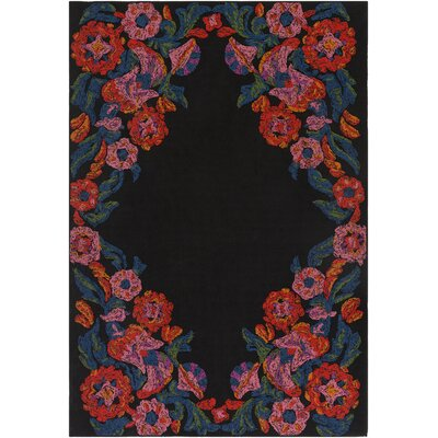 Mayan Polo Hand-Tufted Poppy Red / Carnation Pink Indoor/Outdoor Area Rug Rug Size: 4 x 6