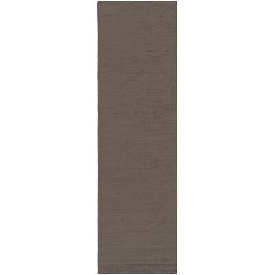 Blosser Hand-Loomed Charcoal Area Rug Rug Size: Runner 2'3