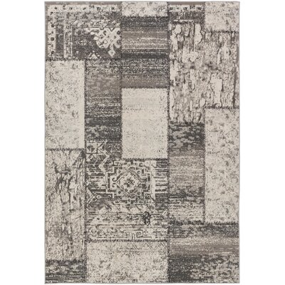 Kimes Gray / Charcoal Area Rug Rug Size: Rectangle 5'3