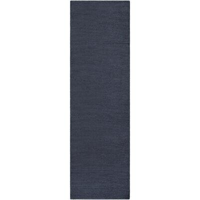 Blosser Hand-Loomed Navy Blue Area Rug Rug Size: Runner 23 x 8