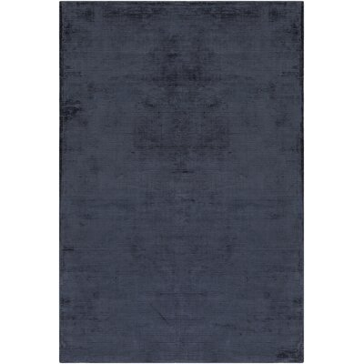 Charlotte Beverly Hand-Loomed Navy Blue Area Rug Rug Size: 8 x 11