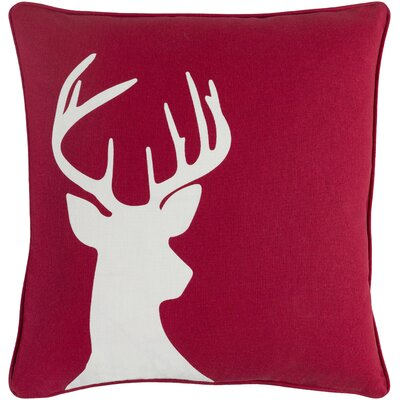 Holiday Deer Cotton Throw Pillow Cover