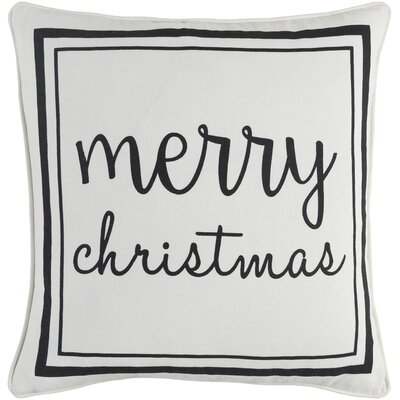 Holiday Merry Cotton Throw Pillow Cover