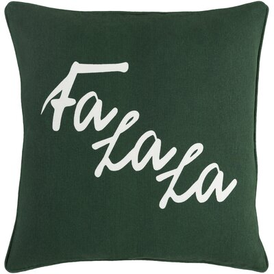 Holiday January Cotton Throw Pillow