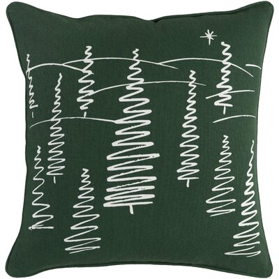 Pisani Evergreen Cotton Throw Pillow Cover