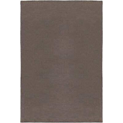 Blosser Hand-Loomed Charcoal Area Rug Rug Size: Rectangle 5 x 76