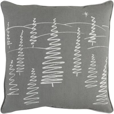Holiday Evergreen Cotton Throw Pillow Cover