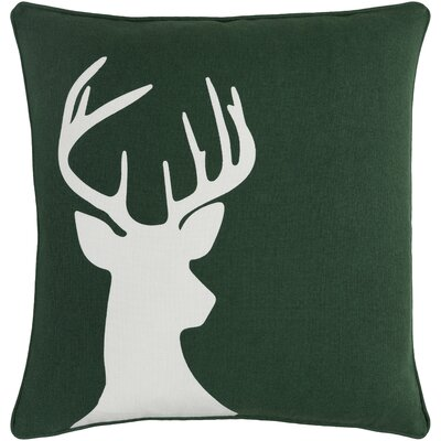 Pirtle Deer Cotton Throw Pillow Cover