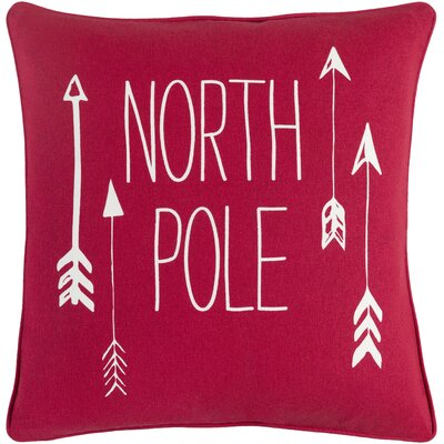 North Pole Square Cotton Throw Pillow