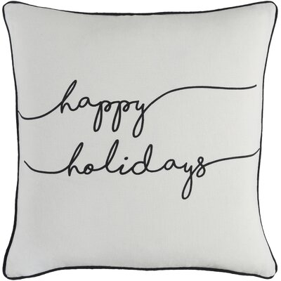 Draeger Holiday Cotton Throw Pillow Cover