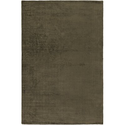 Blosser Hand-Loomed Olive Green Area Rug Rug Size: Rectangle 7'6