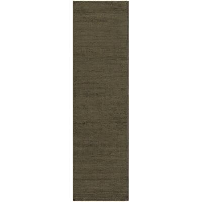 Blosser Hand-Loomed Olive Green Area Rug Rug Size: Runner 2'3