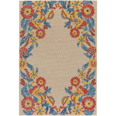 Dimaggio Hand-Tufted Poppy Red/Turquoise Indoor/Outdoor Area Rug Rug Size: Rectangle 8 x 10
