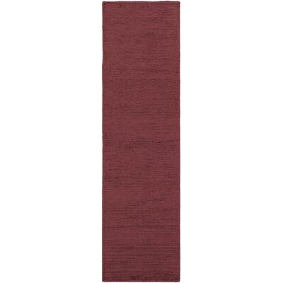 Blosser Hand-Loomed Burgundy Area Rug Rug Size: Runner 23 x 8