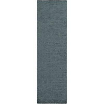 Blosser Hand-Loomed Teal Area Rug Rug Size: Runner 23 x 8