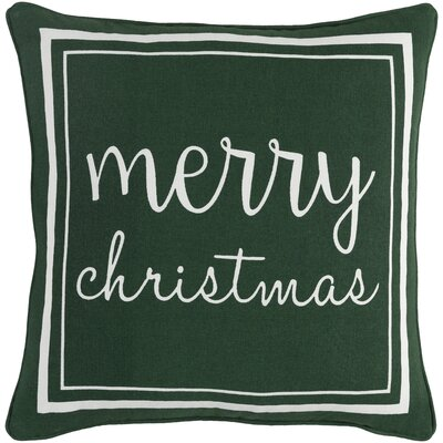 Holiday Merry Cotton Throw Pillow