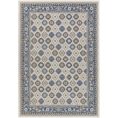Bernhard Royal Blue / Gray Area Rug Rug Size: Rectangle 710 x 10