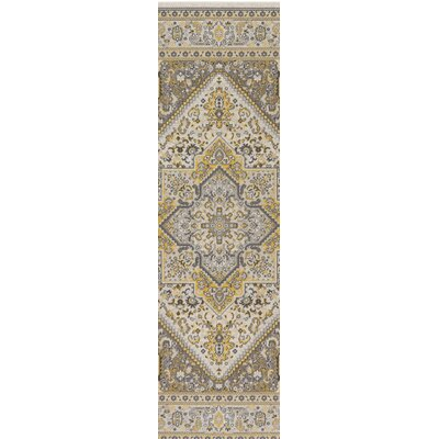 Pickerel Light Yellow/Gray Area Rug Rug Size: Runner 28 x 8
