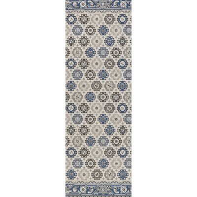 Bernhard Royal Blue / Gray Area Rug Rug Size: Runner 28 x 8