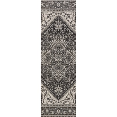 Pickerel Charcoal/Gray Area Rug Rug Size: Runner 28 x 8
