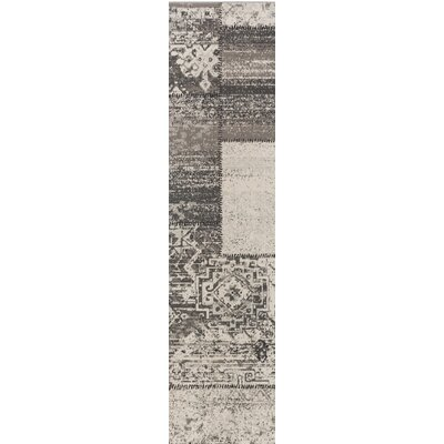 Kimes Gray / Charcoal Area Rug Rug Size: Runner 28 x 8