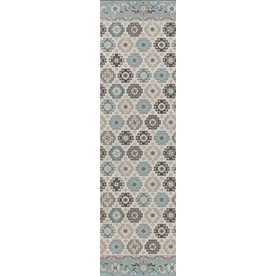 Bernhard Light Blue / Light Gray Area Rug Rug Size: Runner 28 x 8