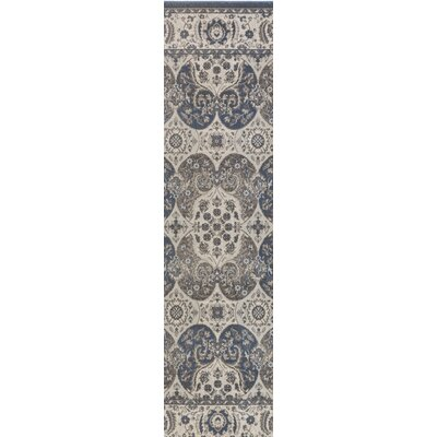 Eberly Slate/Gray Area Rug Rug Size: Runner 28 x 8