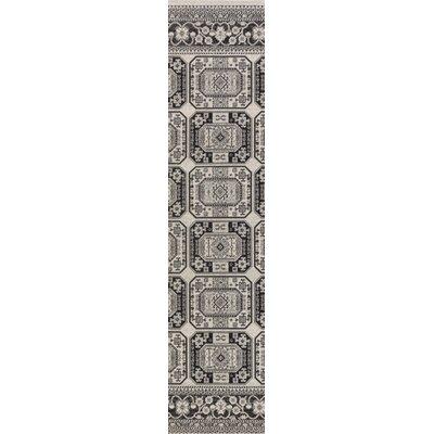 Keeton Onyx Black/Charcoal Area Rug Rug Size: Runner 28 x 8