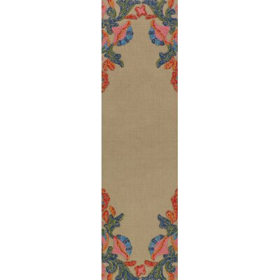 Dimaggio Hand-Tufted Carnation Pink/Navy Blue Indoor/Outdoor Area Rug Rug Size: Runner 26 x 8