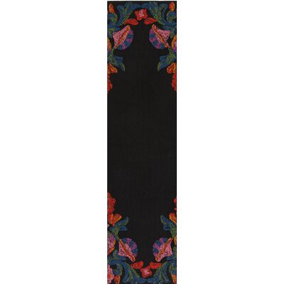 Mayan Polo Hand-Tufted Poppy Red / Carnation Pink Indoor/Outdoor Area Rug Rug Size: Runner 26 x 8