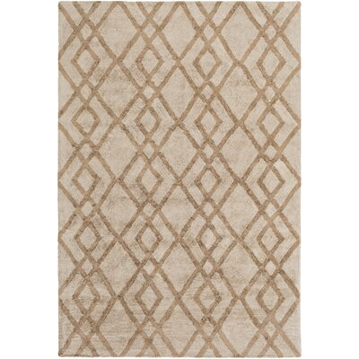 Bradt Hand-Tufted Beige Area Rug Rug Size: Rectangle 76 x 96