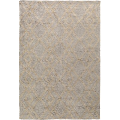 Bradt Hand-Tufted Gray Area Rug Rug Size: Rectangle 5 x 76