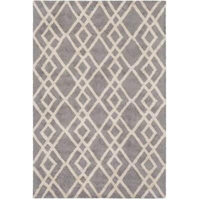 Silk Valley Lila Hand-Tufted Gray Area Rug Rug Size: Round 6