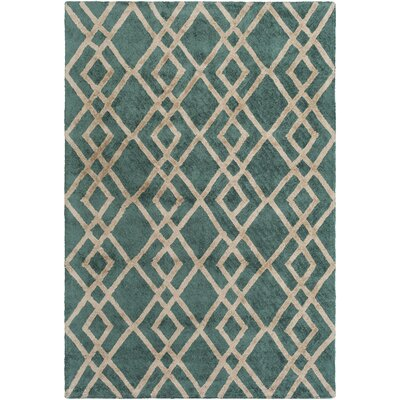 Silk Valley Lila Hand-Tufted Green Area Rug Rug Size: 5 x 76