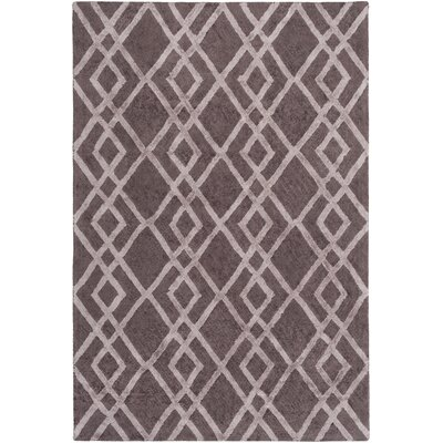 Bradt Hand-Tufted Purple Area Rug Rug Size: Rectangle 76 x 96