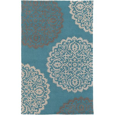 Couture Hand Tufted Teal Area Rug Rug Size: Rectangle 9 x 13