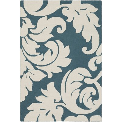 Lachance Hand-Tufted Teal Area Rug Rug Size: Rectangle 4 x 6