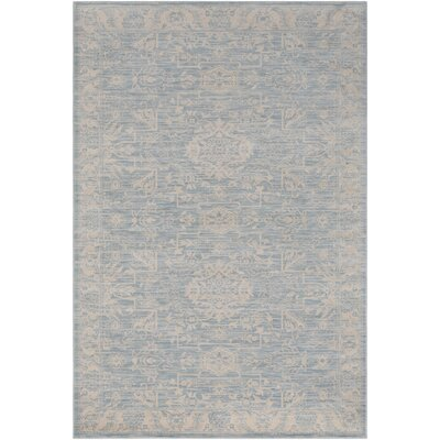Keshawn Blue Area Rug Rug Size: Rectangle 89 x 123