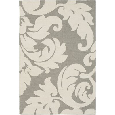 Lachance Hand-Tufted Ivory Area Rug Rug Size: Rectangle 5 x 76